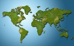mapa de mundo 3d ilustração royalty free