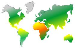 Mapa de mundo da arte Imagem de Stock Royalty Free