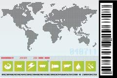 Mapa de mundo da indústria da tecnologia Fotografia de Stock