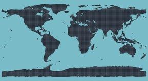 Mapa de mundo da matriz de ponto Fotografia de Stock