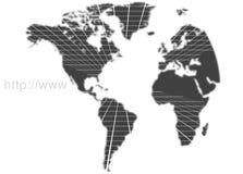 Mapa de mundo da tecnologia ilustração royalty free