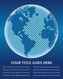Mapa de mundo de Digitas. Foto de Stock
