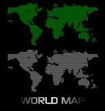 Mapa de mundo de Digitas Fotos de Stock