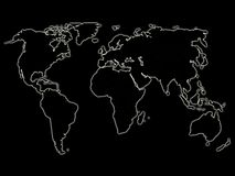 Mapa de mundo de incandescência 2 da noite Fotos de Stock Royalty Free
