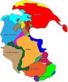 Mapa de mundo de Pangaea ilustração do vetor