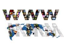 Mapa de mundo de WWW ilustração do vetor