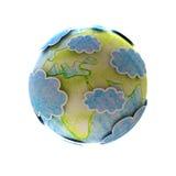 Mapa de mundo desenhado mão Fotografia de Stock