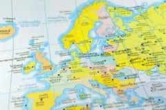 Mapa de mundo detalhado imagens de stock royalty free