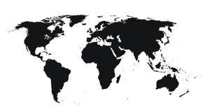 Mapa de mundo detalhado elevado Fotos de Stock