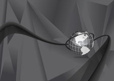 Mapa de mundo dinâmico Fotografia de Stock