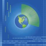 Mapa de mundo dinâmico Imagem de Stock Royalty Free