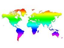 Mapa de mundo do arco-íris fotografia de stock royalty free
