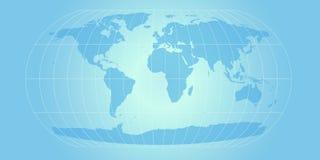 Mapa de mundo do azul de céu Imagens de Stock Royalty Free