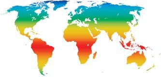 Mapa de mundo do clima Imagens de Stock