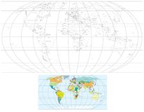 Mapa de mundo do contorno Imagem de Stock Royalty Free