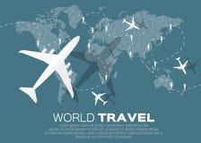 Mapa de mundo do curso Imagem de Stock Royalty Free