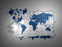 Mapa de mundo do enigma Fotografia de Stock