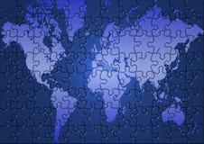 Mapa de mundo do enigma Imagem de Stock