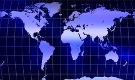 Mapa de mundo do globo com engranzamento Imagem de Stock Royalty Free