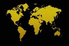 Mapa de mundo do mosaico Ilustração Royalty Free