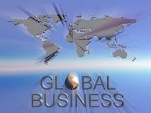 Mapa de mundo do negócio global Imagens de Stock Royalty Free