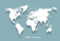 Mapa de mundo do vetor Imagens de Stock Royalty Free