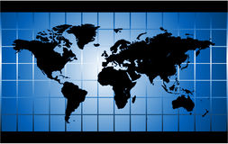 Mapa de mundo do vetor Fotografia de Stock Royalty Free