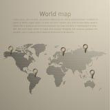 Mapa de mundo do vetor Fotos de Stock Royalty Free