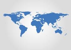 Mapa de mundo do vetor Ilustração alta mesma do detalhe fotografia de stock royalty free