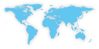 Mapa de mundo do vetor Ilustra??o alta mesma do detalhe imagem de stock