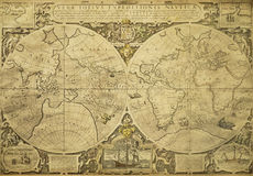 Mapa de mundo do vintage Imagem de Stock Royalty Free