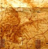 Mapa de mundo do vintage ilustração do vetor