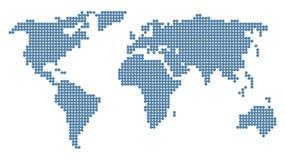 Mapa de mundo Doted Imagens de Stock