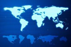 Mapa de mundo e continente ilustração royalty free