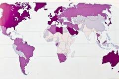 Mapa de mundo em branco Fotografia de Stock Royalty Free