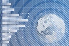 Mapa de mundo gráfico da carta de negócio Fotos de Stock Royalty Free