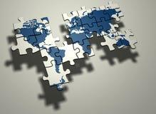 Mapa de mundo inacabado Imagem de Stock
