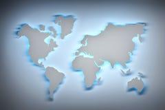 Mapa de mundo de incandescência ilustração do vetor