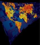 Mapa de mundo luminoso Fotografia de Stock