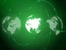 Mapa de mundo - mapa de Ásia Fotografia de Stock Royalty Free