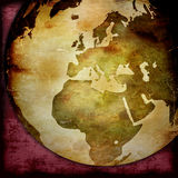 Mapa de mundo - mapa de Europa Foto de Stock Royalty Free
