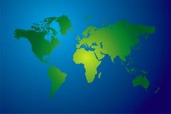 Mapa de mundo moderno ilustração do vetor
