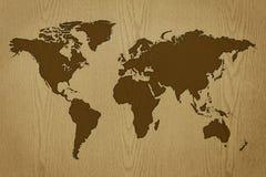 mapa mundo madeira Mapa de mundo madeira ilustração stock. Ilustração de fundo  mapa mundo madeira