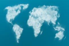 Mapa de mundo nebuloso Imagem de Stock Royalty Free