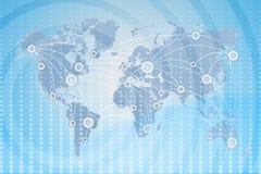 Mapa de mundo negócio global entre estados Fotos de Stock