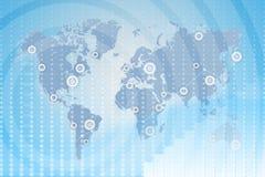 Mapa de mundo negócio global entre estados Imagem de Stock Royalty Free