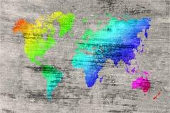 Mapa de mundo no fundo do grunge foto de stock royalty free