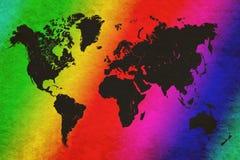 Mapa de mundo no fundo do grunge foto de stock
