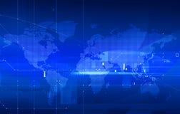 Mapa de mundo pontilhado Imagem de Stock Royalty Free