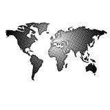 Mapa de mundo pontilhado ilustração do vetor
